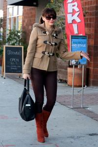 Beautiful boots and stylish woman!
