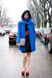 Ingrid Chi in a Bershka coat, Mango dress, C Olympia shoes...